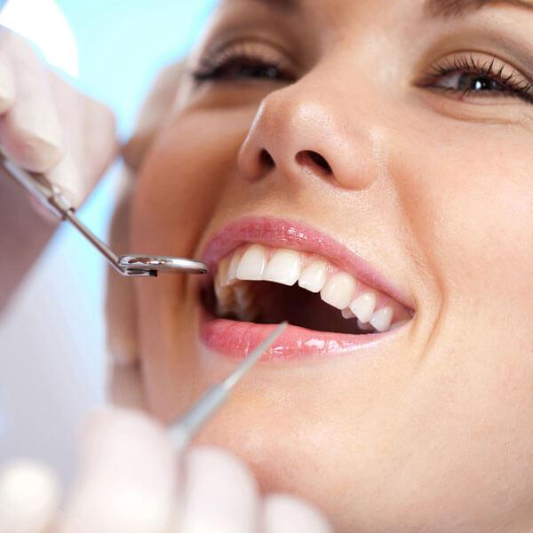 woman at dental office